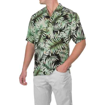 Caribbean Joe Fern Breeze Shirt - Short Sleeve (For Men) in Black - Closeouts