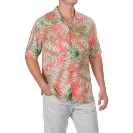 Caribbean Joe Fern Breeze Shirt - Short Sleeve (For Men) in Coral Reef - Closeouts