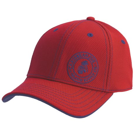 Caribbean Joe Flex-Comfort Baseball Cap (For Men and Women) in Red/Navy