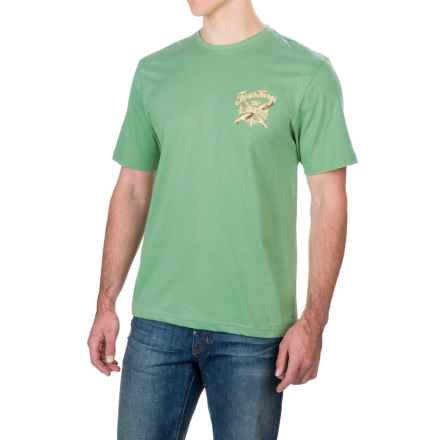 Caribbean Joe Four Kings T-Shirt - Short Sleeve (For Men) in Grenada Green - Closeouts