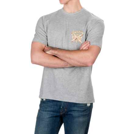Caribbean Joe Four Kings T-Shirt - Short Sleeve (For Men) in Light Heather Grey - Closeouts