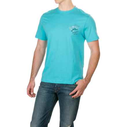 Caribbean Joe Great Catch T-Shirt - Short Sleeve (For Men) in Sea Breeze - Closeouts