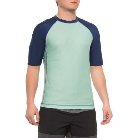 2edec1a4035 Caribbean Joe Green-Navy Sun T-Shirt - UPF 50+, Short Sleeve