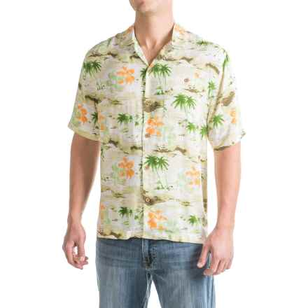 Caribbean Joe Hawaiian Holiday Shirt - Short Sleeve (For Men) in Sand - Closeouts