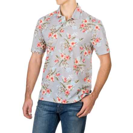 Caribbean Joe High-Performance Polo Shirt - Short Sleeve (For Men) in Light Heather Grey - Closeouts