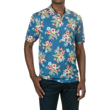 Caribbean Joe High-Performance Polo Shirt - Short Sleeve (For Men) in Military Blue - Closeouts