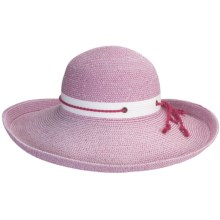 Caribbean Joe Kettle Edge Hat - Crushable (For Women) in Raspbery/White - Closeouts