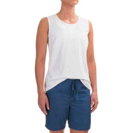 Caribbean Joe Lacy Eyelet Tank Top (For Women) in White - Closeouts