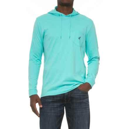 Caribbean Joe Logo Hoodie Shirt - Long Sleeve (For Men) in Waterfed - Closeouts
