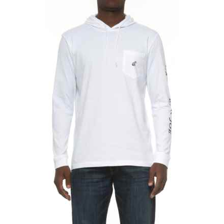 Caribbean Joe Logo Hoodie Shirt - Long Sleeve (For Men) in White - Closeouts