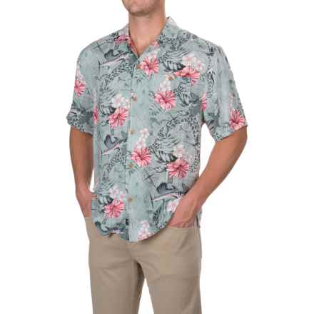 Caribbean Joe Mariners Treasure Shirt - Short Sleeve (For Men) in Pink Geranium - Closeouts