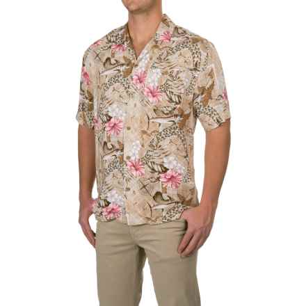 Caribbean Joe Mariners Treasure Shirt - Short Sleeve (For Men) in Teak Tree - Closeouts