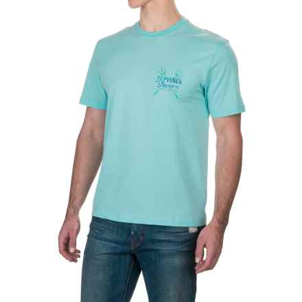 Caribbean Joe Neptunes T-Shirt - Short Sleeve (For Men) in Spring Water - Closeouts
