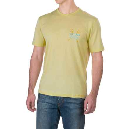 Caribbean Joe Neptunes T-Shirt - Short Sleeve (For Men) in Vanilla Yellow - Closeouts
