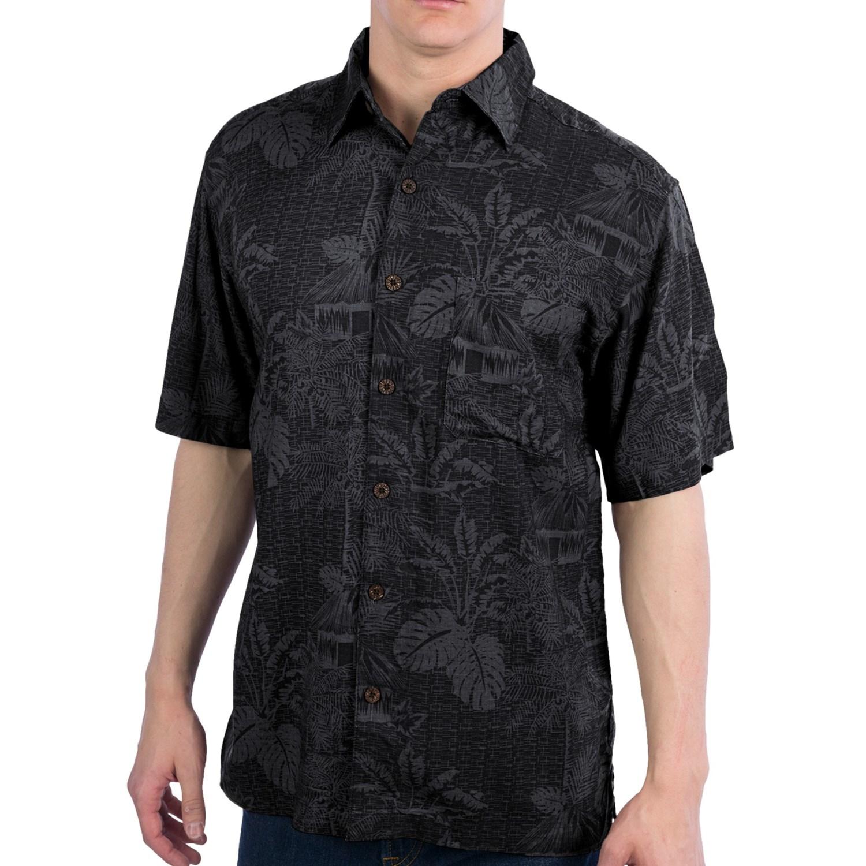 caribbean joe pattern shirt button up short sleeve for