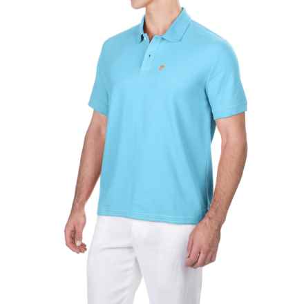 Caribbean Joe Pique Polo Shirt - Short Sleeve (For Men) in Bright Sky - Closeouts