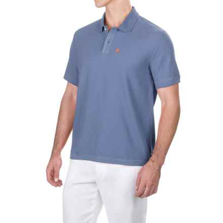 Caribbean Joe Pique Polo Shirt - Short Sleeve (For Men) in Falling Water - Closeouts