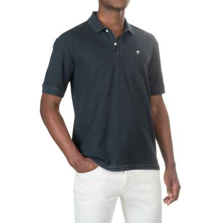 Caribbean Joe Pique Polo Shirt - Short Sleeve (For Men) in Military Blue - Closeouts