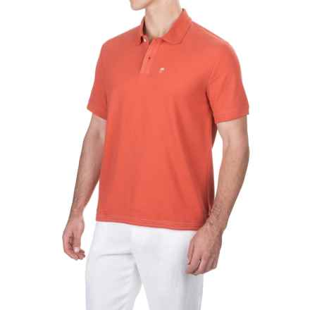 Caribbean Joe Pique Polo Shirt - Short Sleeve (For Men) in Strike Red - Closeouts