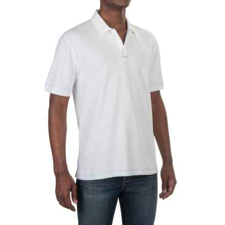 Caribbean Joe Pique Polo Shirt - Short Sleeve (For Men) in White - Closeouts