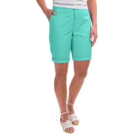 Caribbean Joe Poplin Skimmer Shorts (For Women) in Mint Chip - Closeouts
