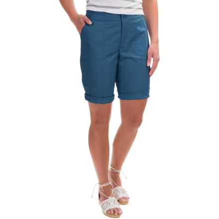 Caribbean Joe Poplin Skimmer Shorts (For Women) in Moonlight Blue - Closeouts