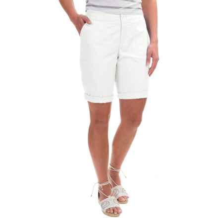 Caribbean Joe Poplin Skimmer Shorts (For Women) in White - Closeouts