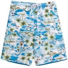 Caribbean Joe Printed Cargo Board Shorts (For Men) in Blue - Closeouts