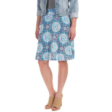 Caribbean Joe Printed Skirt (For Women) in Mid Ocean - Closeouts
