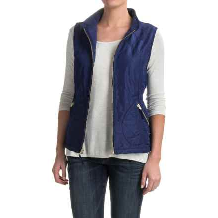 Caribbean Joe Quilted Vest - Fleece Lined (For Women) in Blue Depth - Closeouts