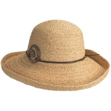 Caribbean Joe Raffia Braid Hat (For Women) in Natural - Closeouts