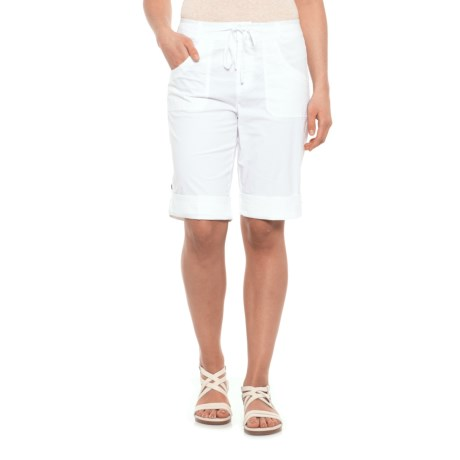Caribbean Joe Roll Leg Skimmer Shorts (For Women) in White