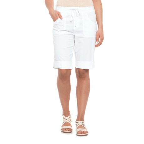 Caribbean Joe Roll Leg Skimmer Shorts (For Women) in White
