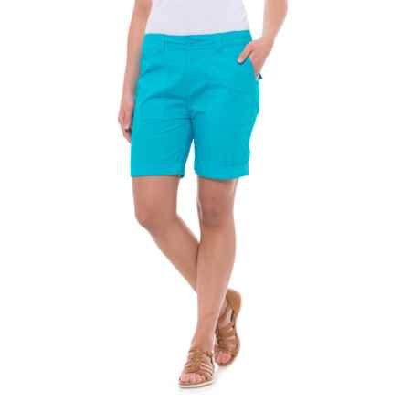 Caribbean Joe Rolled Shorts (For Women) in Turquoise Reef - Closeouts