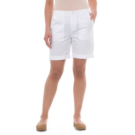 Caribbean Joe Rolled Shorts (For Women) in White