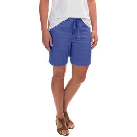 Caribbean Joe Sateen Lamb Chop Shorts (For Women) in Blue Dusk - Closeouts