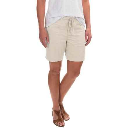 Caribbean Joe Sateen Lamb Chop Shorts (For Women) in Stone - Closeouts