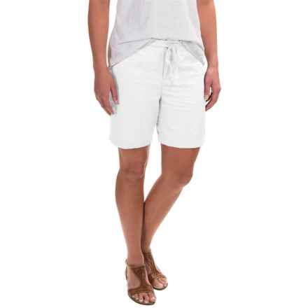 Caribbean Joe Sateen Lamb Chop Shorts (For Women) in White - Closeouts