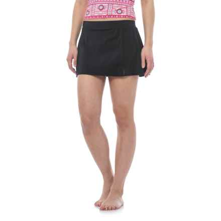 Caribbean Joe Side Slit Swim Skirt (For Women) in Black - Closeouts