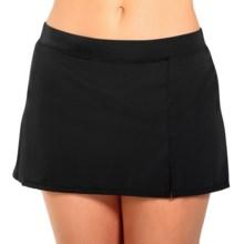 Caribbean Joe Side Slit Swim Skirt (For Women) in Black - Closeouts
