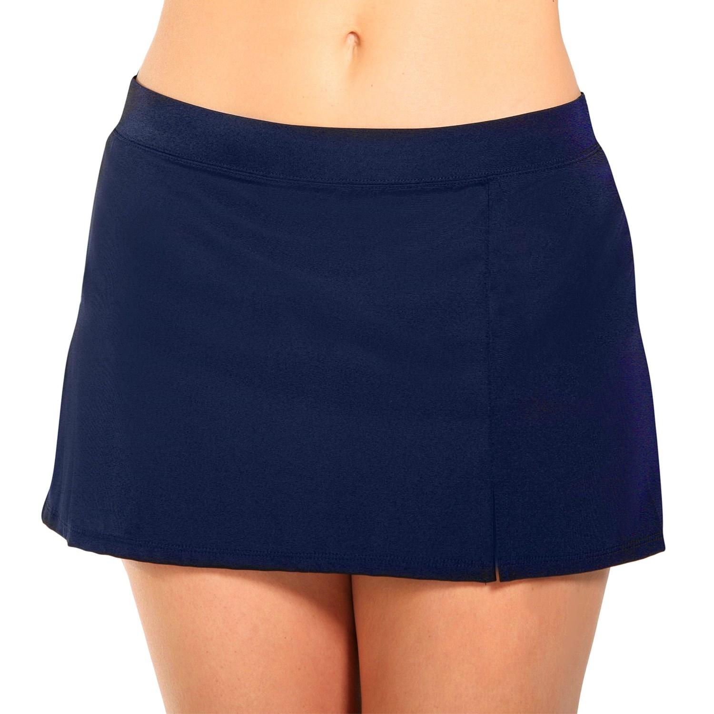 caribbean joe side slit swim skirt for save 52