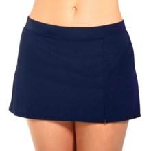 Caribbean Joe Side Slit Swim Skirt (For Women) in Navy - Closeouts