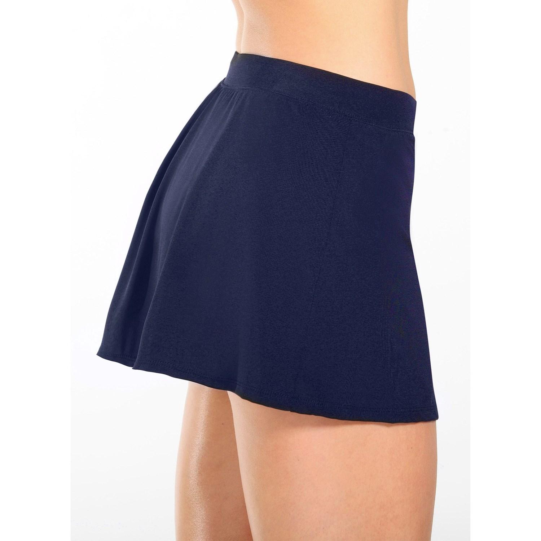 caribbean joe side slit swim skirt for 8339t