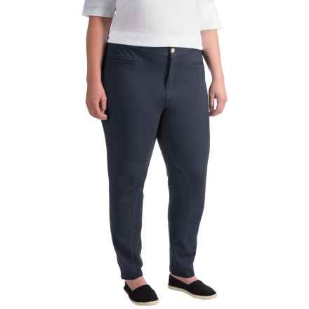Caribbean Joe Slim-Leg Riding Pants (For Plus Size Women) in Storm Coat - Closeouts