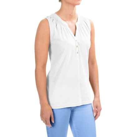 Caribbean Joe Slub-Jersey Tank Top (For Women) in White - Closeouts