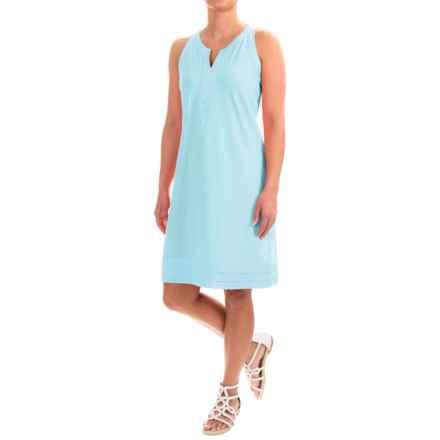Caribbean Joe Slub-Knit Dress - Sleeveless (For Women) in Spring Water - Closeouts
