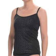 Caribbean Joe Soft Cup Flock of Seagulls Tankini Top (For Women) in Black - Closeouts