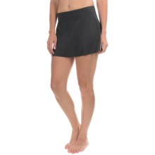 Caribbean Joe Solid Skirted Bikini Bottoms (For Women) in Black - Closeouts