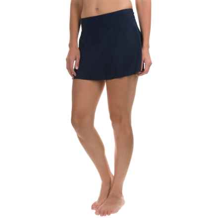 Caribbean Joe Solid Skirted Bikini Bottoms (For Women) in Navy - Closeouts