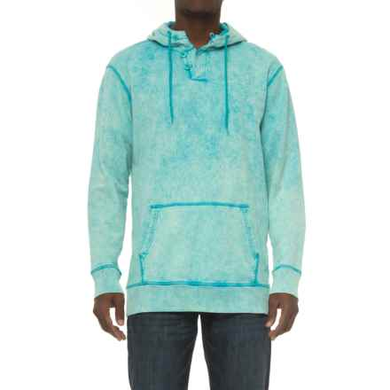 Caribbean Joe Sun-Washed Hoodie (For Men) in Peacock Blue - Closeouts